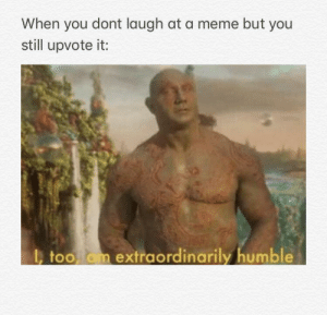 Beautiful, Meme, and Reddit: When you dont laugh at a meme but you  still upvote it:  , too am extraordinarily humble Thank you beautiful people