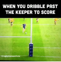 Best, Scotland, and Rugby: WHEN YOU DRIBBLE PAST  THE KEEPER TO SCORE  41  @rugbymemesofficial Byron McGuigan is the best footballer in Scotland 😂💪🏼🏴󠁧󠁢󠁳󠁣󠁴󠁿 rugby scotland wallabies