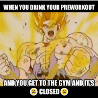 Time to go Super Saiyan. . @doyoueven 👈🏼 FREE SHIPPING on all national orders 🌎: WHEN YOU DRINK YOUR PREWORKOUT  ANDYOU GETTO THE GYMANDITS  CLOSED Time to go Super Saiyan. . @doyoueven 👈🏼 FREE SHIPPING on all national orders 🌎