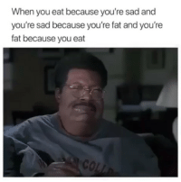 It's a vicious vicious cycle.: When you eat because you're sad and  you're sad because you're fat and you're  fat because you eat It's a vicious vicious cycle.