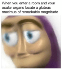 Maximus, Memes, and 🤖: When you enter a room and your  ocular organs locate a gluteus  maximus of remarkable magnitude 🧐