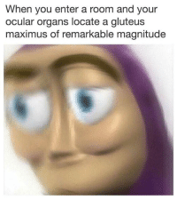 Maximus, Dank Memes, and You: When you enter a room and your  ocular organs locate a gluteus  maximus of remarkable magnitude