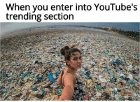 Youtubes: When you enter into YouTube's  trending section