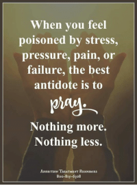 Antidote, Memes, and 🤖: When you feel  poisoned by stress,  pressure, pain, or  failure, the best  antidote is to  Nothing more.  Nothing less.  ADDICTION TREATMENT RESouRCEs  8oo-815-6308 Get Help Today! WingsOfEncouragement.org  24/7 Addiction Helpline Call - 1.800.815.6308