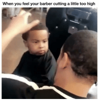 His face 🤣🤣 👉🏽(via:300Diablo-twitter): When you feel your barber cutting a little too high His face 🤣🤣 👉🏽(via:300Diablo-twitter)