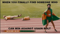 Usain Bolt: WHEN YOU FINALLY FIND SOMEONE WHO  CAN WIN AGAINST USAIN BOLT  WADIYAN GAMES 100m RACE