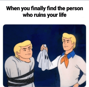 Dank, Life, and Memes: When you finally find the person  who ruins your life Meirl by fxhri MORE MEMES