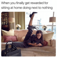 Buzzfeed, Home, and Link: When you finally get rewarded for  sitting at home doing next to nothing  -H Guys you legit gotta download the Perksy app – it's like getting paid to take buzzfeed quizzes. 📲 Link in bio notpoor ad