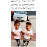 Cute, Memes, and Girl: When you finally get the  girl you've been trynnaa  get with for the longest Cute! 😂 Credit: @skiislopecorbs