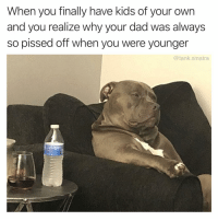 """Dad, Funny, and Kids: When you finally have kids of your own  and you realize why your dad was always  so pissed off when you were younger  @tank.sinatra I'm going out for """"milk"""""""