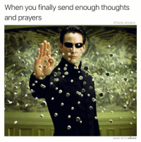 Funny, Job, and Tank: When you finally send enough thoughts  and prayers  @tank.sinatra  MADE WITH MOMUS You did it guys great job