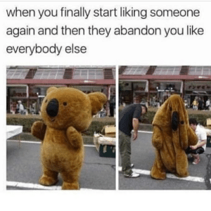 Tumblr, Http, and Com: when you finally start liking someone  again and then they abandon you like  everybody else Follow us @studentlifeproblems​