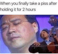 """Memes, River, and Via: When you finally take a piss after  holding it for 2 hours <p>Flowing like a river via /r/memes <a href=""""https://ift.tt/2Gt89et"""">https://ift.tt/2Gt89et</a></p>"""