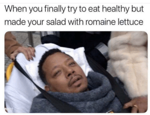 Dank, Memes, and Shit: When you finally try to eat healthy but  made your salad with romaine lettuce Last time I eat healthy shit. by vanfullamidgets MORE MEMES