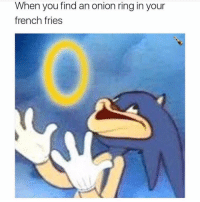 It's LITERALLY like a gift from Jesus- the chef not the Christian lol (@chanpagneemojis): When you find an onion ring in your  french fries It's LITERALLY like a gift from Jesus- the chef not the Christian lol (@chanpagneemojis)