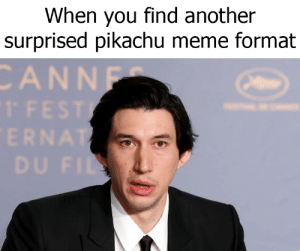 Surprised Pikachu Meme