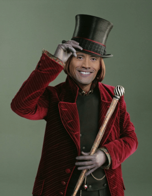"""Charlie, The Rock, and Willy Wonka: When you find out Dwayne """"The Rock"""" Johnson almost starred as Willy Wonka in Tim Burton's Charlie & The Chocolate Factory."""