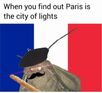 Paris, Lights, and City: When you find out Paris is  the city of lights