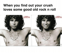 Tag someone who listens to good music 👇: When you find out your crush  loves some good old rock n roll  FaceApp Tag someone who listens to good music 👇
