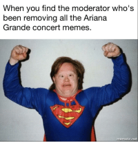 <p>A wild moderator appeared!</p>: When you find the moderator who's  been removing all the Ariana  Grande concert memes.  0  mematic.net <p>A wild moderator appeared!</p>