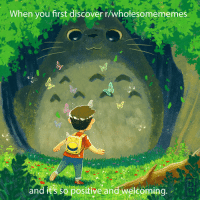 """Discover, Giant, and Http: When you first discover r/wholesomememes  and it's so positive and welcoming <p>This sub is like a giant totoro. via /r/wholesomememes <a href=""""http://ift.tt/2xOyXAD"""">http://ift.tt/2xOyXAD</a></p>"""