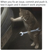 here we go again: When you fix an issue, commit and push it,  test it again and it doesn't work anymore here we go again