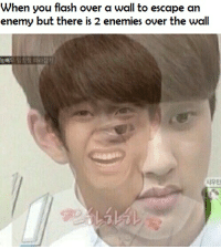 League of Legends, Enemies, and Flash: When you flash over a wall to escape an  enemy but there is 2 enemies over the wall  눙배  암창정 따라잡기  시우민