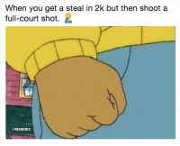 Bruh, Nba, and You: When you get a steal in 2k but then shoot a  full-court shot. 2  @NBAMEMES BRUH. 😂