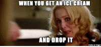 Memes, Ice Cream, and Imgur: WHEN YOU GET AN ICE CREAM  AND DROP IT  made on imgur We need more Gillian memes