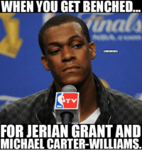 Rondo's plan:: WHEN YOU GET BENCHED  OHBAMEMES  TV  FOR JERIAN CRANTAND  MICHAEL CARTER-WILLIAMS. Rondo's plan: