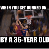 Klaythompson Getting Dunked On By RichardJefferson: WHEN YOU GET DUNKED ON  @NBA MEMES  BY A 36-YEAR OLD Klaythompson Getting Dunked On By RichardJefferson