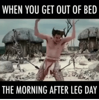The Feels 😂: WHEN YOU GET OUT OF BED  THE MORNING AFTER LEG DAY The Feels 😂