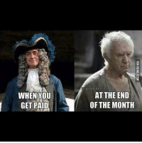 Memes, 🤖, and You: WHEN YOU  GET PAID  Gigaemofthrone  AT THE END  OF THE MONTH 😂
