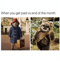 Funny, You, and Get: When you get paid vs end of the month Current situation😞