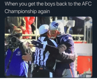 Best friends forever🥰: When you get the boys back to the AFC  Championship again Best friends forever🥰