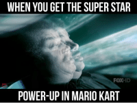 UNLIMITED POWER: WHEN YOU GET THE SUPER STAR  FOXHD  POWER-UP IN MARIO KART UNLIMITED POWER