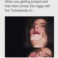 Timberland, Hood, and Timberlands: When you getting jumped and  then here comes this nigga with  the Timberlands on With the Timbo's tho!!! Stop playin'.  #WSHH