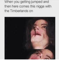 Timberland, Dank Memes, and Timberlands: When you getting jumped and  then here comes this nigga with  the Timberlands on 😂😂😂
