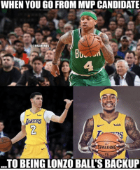 IT has had the craziest turnaround.: WHEN YOU GO FROM MVP CANDIDATE  @NBAMEMES  Bu  AKERS  wish  ALDIN  TO BEING LONZO BALL'S BACKUP IT has had the craziest turnaround.