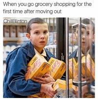 @chillblinton is relatable af: When you go grocery shopping for the  first time after moving out  ChillBlintorn @chillblinton is relatable af