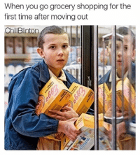 @chillblinton is an expert meme maker: When you go grocery shopping for the  first time after moving out  ChilBlinton @chillblinton is an expert meme maker