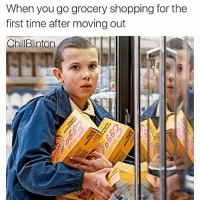 go-grocery-shopping: When you go grocery shopping for the  first time after moving out  ChillBlinton