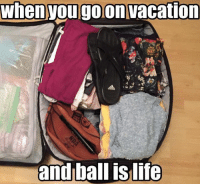 Life, Nba, and Summer: When you go on vacation  andball is life Necessary for any summer vacation Credit: John Williams