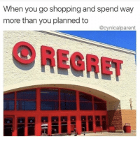 WOOPS!!! (@romperdotcom): When you go shopping and spend way  more than you planned to  @cynicalparent  OREGRET WOOPS!!! (@romperdotcom)