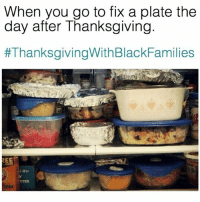 Friends, Lmao, and Thanksgiving: When you go to fix a plate the  day after Thanksgiving  #ThanksgivingWithBlackFamilies  TTER LMAO 😂 @funnyblack.s ➡️ TAG 5 FRIENDS ➡️ TURN ON POST NOTIFICATIONS