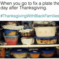 Facts, Memes, and Thanksgiving: When you go to fix a plate the  day after Thanksgiving  #ThanksgivingWithBlackFamilies  TTER #facts