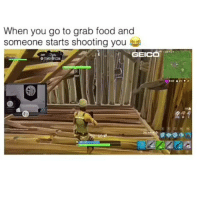 true af 😂😂😂 Comment your 3rd emoji is your reaction?👇🏾 • Follow @saltyhighlights for 7 years of good luck🍀👌 • 🔥 Like and comment! 🔥 • Hoodclips houseofhighlights boy selfie nba memes dankmemes funnyvids cavs bulls: When you go to grab food and  someone starts shooting you  GEICa  COM  043 &22 true af 😂😂😂 Comment your 3rd emoji is your reaction?👇🏾 • Follow @saltyhighlights for 7 years of good luck🍀👌 • 🔥 Like and comment! 🔥 • Hoodclips houseofhighlights boy selfie nba memes dankmemes funnyvids cavs bulls