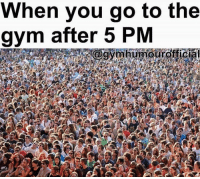 Good luck doing a superset 😅 Via @gymhumourofficial: When you go to the  gym after 5 PM  aovmhtmoofficia Good luck doing a superset 😅 Via @gymhumourofficial
