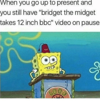 """yikes-s: When you go up to present and  you still have """"bridget the midget  takes 12 inch bbc"""" video on pause yikes-s"""