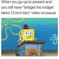 """Bro...: When you go up to present and  you still have """"bridget the midget  takes 12 inch bbc"""" video on pause  ATBITand Bro..."""